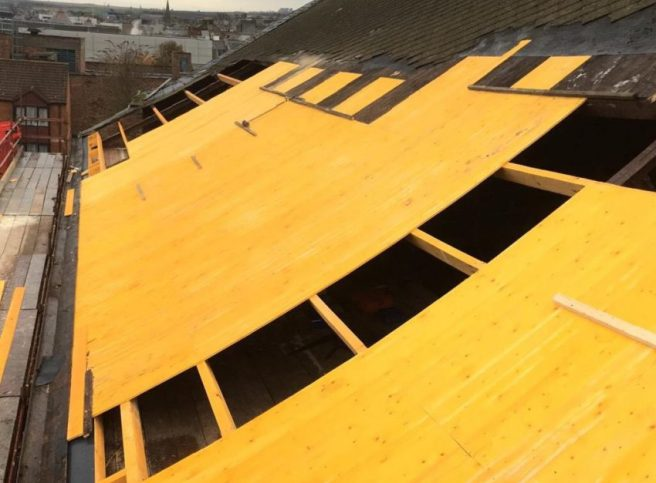 Progress on the roofing of Kings Theatre Kirkcaldy